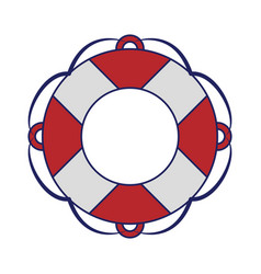 Float navigation lifesaver blue lines vector