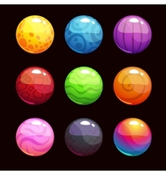 Funny cartoon colorful shiny bubbles vector image