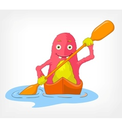 Funny Monster Kayaker vector image
