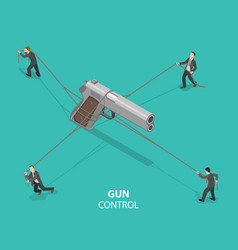 gun control flat isometric concept vector image