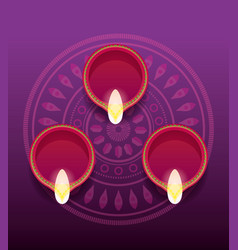 Happy diwali celebration vector