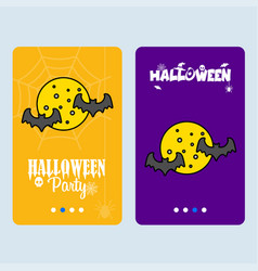 happy halloween invitation design with moon vector image