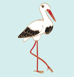 icon with stork vector image