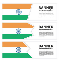 India flag banners collection independence day vector