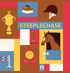 jokey banner about steeplechase vector image