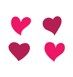 love logo icon designtemplate vector image