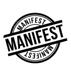 Manifest rubber stamp vector