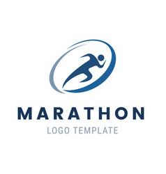 Marathon run logo template run man symbol vector