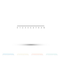 measuring scale markup for rulers icon isolated vector image