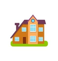 Modern Style Suburban House Exterior Design vector
