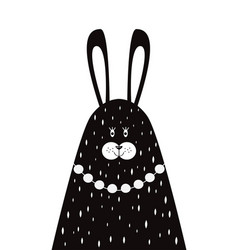 Mother rabbit in a scandinavian style vector