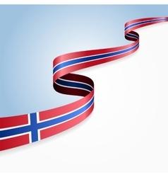 Norwegian flag background vector