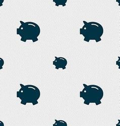 Piggy bank - saving money icon sign Seamless vector