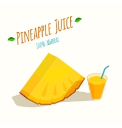 Pineapple Juice vector image