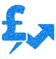 Pound Price Growth Grainy Texture Icon vector