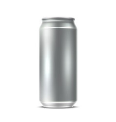 realistic blank silver can drink package vector image