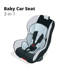 Safety car seat for baby and kid isolated vector