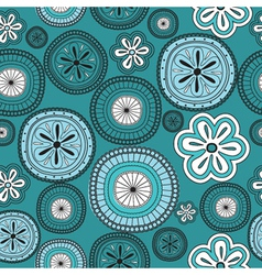 Seamless flower retro background vector