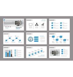 Set of presentation template vector