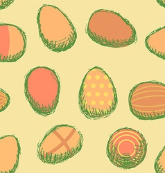 Sketch Easter eggs vintage style vector image