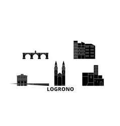 spain logrono flat travel skyline set spain vector image