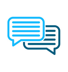 speech bubbles icon sign vector image