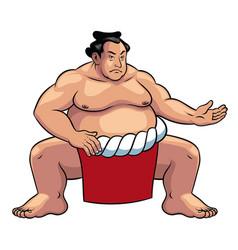 Sumo wrestler japan vector