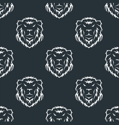 tiger head royal seamless pattern with beautiful vector image