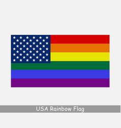 Usa american gay pride rainbow flag lgbtq banner vector
