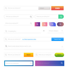 Web design elements and buttons ui set vector