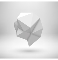 White Abstract Polygonal Shape vector