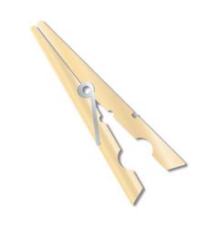Wood clothes peg vector