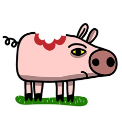 Wounded pig vector