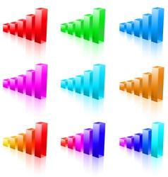 abstract bar graphs vector image vector image