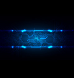 abstract technology circuit with blue light vector image vector image
