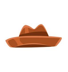 brown vintage fedora hat vector image