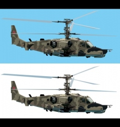 combat helicopter vector image vector image