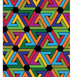 Creative continuous multicolored pattern rich vector image