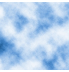 Drifting white clouds vector image