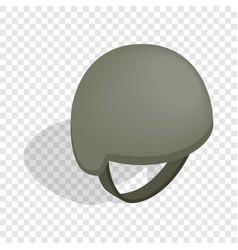 military helmet isometric icon vector image
