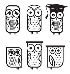 Owl set1 vector image