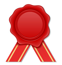 red wax stamp vector image