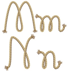 Rope alphabet vector image vector image