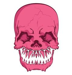 aggressive skull vector image vector image