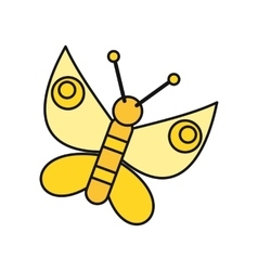 Butterfly Icon in Flat vector image