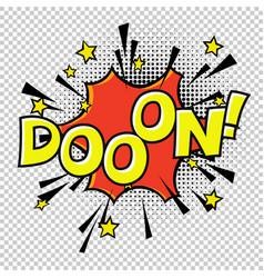 Doon doo-o-n halftone circle on transparent vector