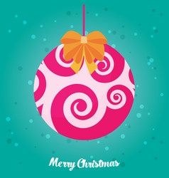Holidays greeting card with abstract doodle vector