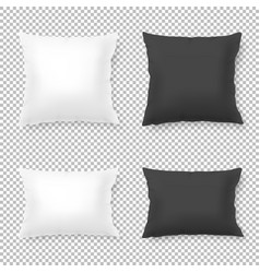 realistic blank white black square and vector image
