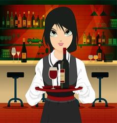 Restaurant waiter vector image vector image