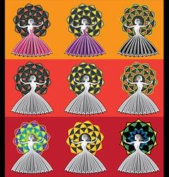 woman lady girl figure silhouette geometric design vector image